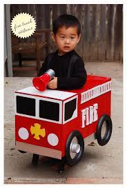 one diy firetruck costume