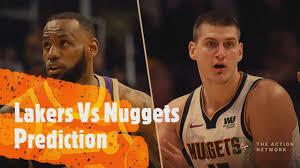 Los Angeles Lakers Vs Denver Nuggets Prediction - YouTube