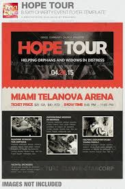 Hope Tour Charity Event Flyer Template Church Flyers Free ...