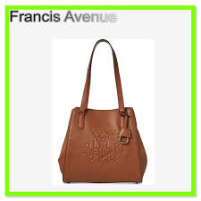 ralph lauren blended fabrics a4 leather totes