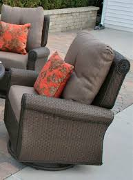 swivel and rocking chairs. Giovanna Luxury Wicker/Cast Aluminum Patio Furniture Deep Seating Set W/Swivel Rocking Chairs Swivel And N