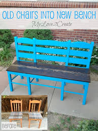 my love 2 create will show you how to turn two ugly chairs into a sweet