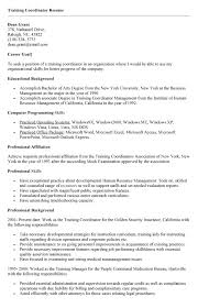 Marketing Coordinator Resume Sample Training Resume Format