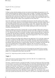 english writing  twe essays 18292 18 essay id 238 this is a 5 point essay topic 1 college is a place that the students can learn more and new knowledge and experience in it