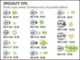 Ateco Chart For Specialy Decorating Tips Cake Tips