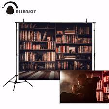 <b>Allenjoy photography backdrop</b> Vintage <b>books</b> Wooden bookshelves
