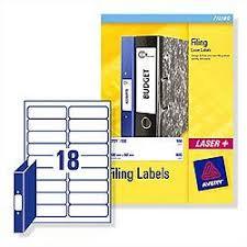 Avery Binder Label Avery Ring Binder Filing Labels Laser L7172 25 100x30mm 450 Labels