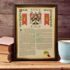 70th gifts for men view more coat of arms surname history print