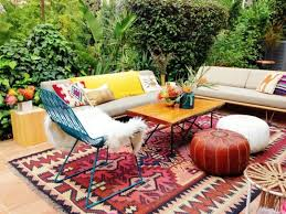 bohemian outdoor rug style
