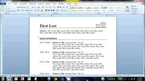 How To Make Resume In Ms Word 2007 Step By Step Professional User