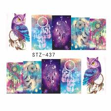Owl Dream Catcher Nail Decals Transfer Nail Art Stickers ...
