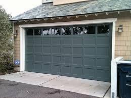 flat panel garage doorWood flat panel garage door  all county garage doors