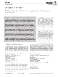 PDF) Wearables in Medicine