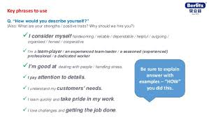 How To Describe Yourself In An Interview English Tips For Job Interview Berlitz Australia