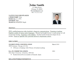 Format Of A Resume For Job Application