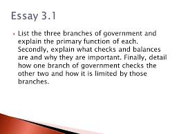 three branches of government ppt video online  11 essay