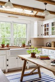 country interior home design. An Old Rustic Table In Place Of A Modern Day Kitchen Island. Country Interior Home Design