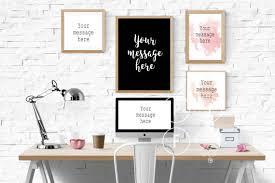 feminine desk mockup, iMac mockup, blog background, desk stock, office mock  up, computer frame multiple fames pink