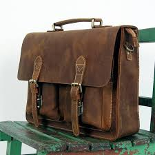 handmade vintage leather briefcase leather messenger bag 13 15 macbook 14
