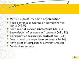 unit six compare and contrast ppt 7 method 2 point by point organization topic sentence comparing