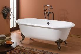 cheviot regal double ended cast iron white clawfoot tub 2111w w feet