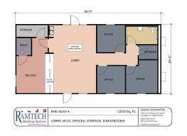 Ramtech Relocatable And Permanent Modular Building Floor Plans