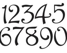 Cool Number Fonts Fonts For Numbers Barca Fontanacountryinn Com
