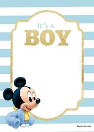 Free Printable Baby Mickey Mouse Invitations Baby Mickey Mouse Baby Shower Invitations Sansalvaje Com