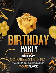 Birthday Flyers Event Flyer Party Flyers Birthday Flyers Template Postermywall