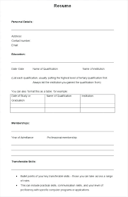 Resume Templates Free Letter Resume Collection