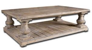 Restoration Hardware Balustrade Salvaged Wood Coffee Table. $1,695.  UTTERMOST STRATFORD FIR WOOD TABLE