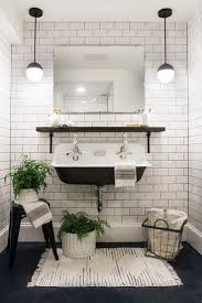 ... Subway Tiles In Bathroom Black And White Subway Tile Bathroom Ideas  With Washtafel Plant ...