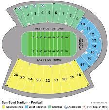 49 Detailed Utep Stadium Seating Chart