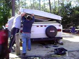 fixing a pop up camper that won't fold down youtube forest river pop up camper owners manual at Flagstaff Camper Wiring