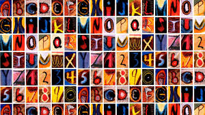 Butterfly Alphabet Chart This Alphabet Is Made Entirely From Letters Found On