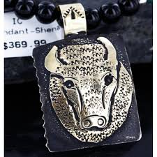 540 retail tag 12kt gold filled and 925 sterling silver handmade buffalo authentic navajo turquoise native american necklace all s shenan be