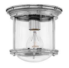 Hinkley Hadley Light Hinkley 3300cm Cl Hadley Flush Mount 1 Light 100 Watts