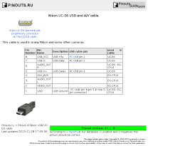 nikon uc e6 usb and a v cable pinout diagram pinoutguide com nikon uc e6 usb and a v cable diagram