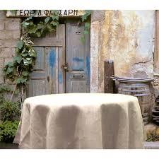 96 round white burlap tablecloth