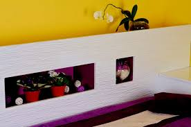 Schlafzimmer Ideen Wandgestaltung Drei Farben Tapeten Mehr 12 Zur Im