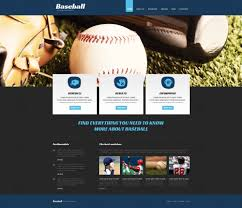 Baseball Websites Templates Baseball Responsive Joomla Template Website Template Pinterest