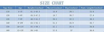 12 13y Size Chart Amazon Com Cneokry Boys Pants Uniform Elastic Waist