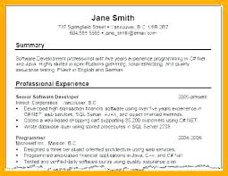 Resume Summary Examples For Freshers Samples Of Resume Summary ...