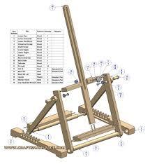 Easel Design Plans H Frame Folding Tabletop Easel Plan
