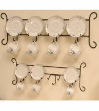 Tea Cup Display Stand Cup and Saucer Hanger Stacked Four Place Set of 100 Tea Cup and 46