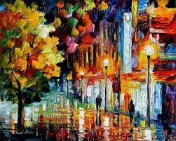 modern impressionism palette knife oil painting kp112