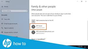 How To Make Another Account On Windows 10 How To Create A Local User Account In Windows 10 Hp Computers Hp