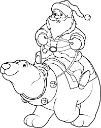 Free coloring page for fans of the polar express story and movie and for fans of trains. Santa Claus Riding On The Back Of A Stock Vector Colourbox