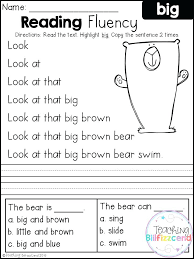 Reading Worksheets For Kindergarten Awesome Grade On Kids Free ...