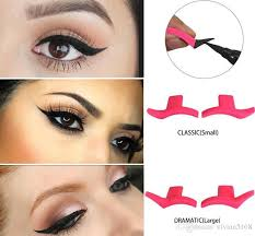 cat eyeliner sts new wing style kitten large size eyeliner stencil models easy to makeup cat eye beauty tools eyeliner seal how to apply mascara how to